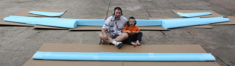 My son and I with my first complete set of cores